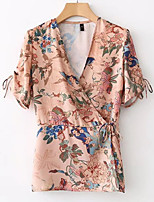 cheap -Women's Going out Active Blouse - Floral V Neck