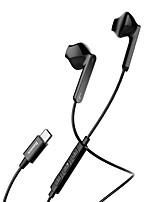 abordables -C16 Type-c Ecouteurs Piézoélectricité Plastique Téléphone portable Écouteur Avec contrôle du volume Casque