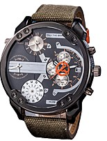 cheap -Men's Military Watch Chronograph / Large Dial / Punk Cloth Band Luxury Black / Blue / Red