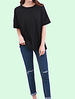 cheap -Women's Daily / Holiday Basic Batwing Sleeve T-shirt - Solid Colored / Summer