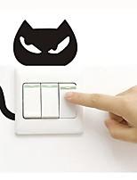 baratos -Decalque Autocolantes de Interruptores de Luz Autocolantes de Banheiro - Autocolantes de Aviões para Parede Animais Removível