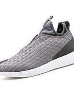 baratos -Homens sapatos Tricô Primavera / Outono Conforto Tênis Caminhada Preto / Azul Escuro / Cinzento