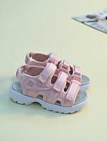 Недорогие -Девочки обувь Оксфорд Лето Удобная обувь Сандалии для Повседневные Черный Синий Розовый