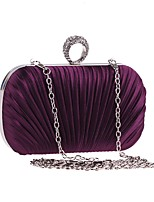 cheap -Women's Bags Polyester Evening Bag Crystals Black / Purple / Silver