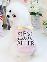 abordables -Chiens Chats Petits Animaux à Fourrure Animaux de Compagnie Gilet Vêtements pour Chien simple Ange Lettre et chiffre Blanc Bleu Rose