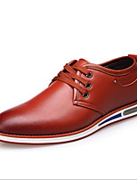 cheap -Men's Shoes Synthetic Microfiber PU Spring Comfort Oxfords for Casual Black Brown Red