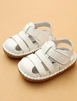 Недорогие -Девочки обувь Кожа Лето Обувь для малышей Удобная обувь Сандалии для Повседневные Белый Желтый Розовый