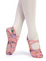 abordables -Fille Chaussures de Ballet Toile Plate Intérieur / Entraînement Noeud Talon Plat Personnalisables Chaussures de danse Rose