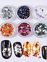 cheap -6pcs Nail Glitter Glitters Nail Glitter Special Designed Casual / Daily Nail Art Design