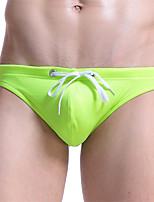 abordables -Homme Bikinis Couleur Pleine Slips