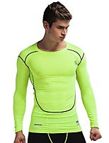 cheap -Men's Running Shirt Compression Clothing - Sports Short Pant Fast Dry strenchy Black, Green