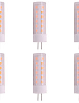 cheap -6pcs 3W 200-230lm G4 LED Bi-pin Lights T 36pcs LED Beads SMD 2835 Flame Flickering Change DC 12V