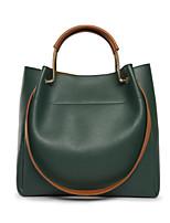 cheap -Women's Bags PU Tote Zipper for Casual All Seasons Green