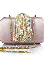 cheap -Women's Bags Polyester Evening Bag Crystals / Pearls / Tassel for Wedding / Event / Party Gold / Black / Blushing Pink