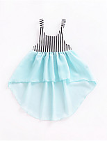 cheap -Toddler Girls' Street chic Color Block Sleeveless Dress