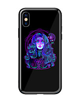 abordables -Coque Pour Apple iPhone X iPhone 8 Motif Coque Femme Sexy Dur Verre Trempé pour iPhone X iPhone 8 Plus iPhone 8 iPhone 7 iPhone 6s Plus