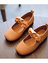 Недорогие -Девочки обувь Полиуретан Весна Осень Детская праздничная обувь Удобная обувь На плокой подошве для Повседневные Черный Коричневый Зеленый