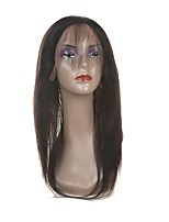 cheap -Laflare Women's Straight 360 Frontal Malaysian Hair Swiss Lace Human Hair Free Part Middle Part 3 Part With Baby Hair For Black Women