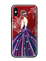 economico -Custodia Per Apple iPhone X iPhone 8 Fantasia/disegno Per retro Sexy Resistente Vetro temperato per iPhone X iPhone 8 Plus iPhone 8