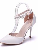 abordables -Femme Chaussures Polyuréthane Printemps / Automne Confort / Escarpin Basique Chaussures à Talons Talon Aiguille Blanc