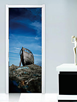 abordables -Stickers muraux Autocollants muraux décoratifs Autocollants de porte - Autocollants muraux 3D Paysage 3D Repositionable Amovible
