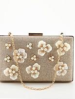 preiswerte -Damen Taschen Polyester Abendtasche Applikationen Kristall Verzierung Perlen Verzierung für Hochzeit Veranstaltung / Fest Ganzjährig Gold