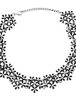 cheap -Women's Lovely Flower Choker Necklace  -  Elegant Ethnic Gold Silver 35cm Necklace For Wedding Evening Party
