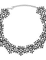 abordables -Mujer Encantador Flor Gargantillas  -  Elegant Étnico Dorado Plata 35cm Gargantillas Para Boda Fiesta de Noche