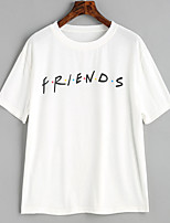 cheap -Women's Basic T-shirt - Letter