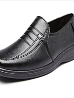 cheap -Men's Shoes PU Spring Fall Comfort Loafers & Slip-Ons for Casual Black
