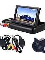 baratos -ZIQIAO 4.3 Polegadas Outro CCD Com Fio 170 Graus Kit de visão traseira do carro Dobrável Impermeável para Carro