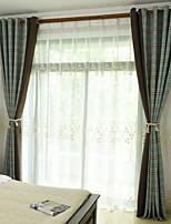 baratos -Sheer Curtains Shades Sala de Estar Contemporâneo Algodão / Poliéster Estampado
