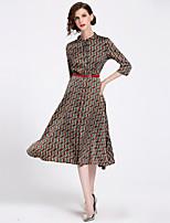 cheap -SHIHUATANG Women's Street chic Boho A Line Swing Dress - Abstract, Print