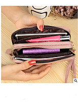 cheap -Women's Bags PU Wallet Buttons for Casual Blushing Pink / Gray / Light Purple