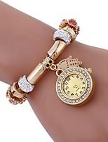 abordables -Mujer Cuarzo Reloj de Moda Chino La imitación de diamante Aleación Banda Encanto Moda Negro Blanco Azul Rojo Rosa