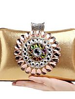 preiswerte -Damen Taschen Polyester Unterarmtasche Perlenstickerei Perlen Verzierung für Veranstaltung / Fest Normal Frühling Herbst Blau Gold