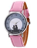Недорогие -Жен. Кварцевый Модные часы Китайский Крупный циферблат PU Группа минималист Мода Черный Белый Синий Красный Коричневый Зеленый Розовый