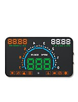 cheap -E350 5.6 inch LED Wired Head Up Display LED indicator Alarm High temperature alarm Low voltage alarm Multi-functional display Speed
