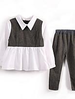 cheap -Kids Girls' Striped Long Sleeve Clothing Set / Cute