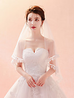 cheap -One-tier Classic & Timeless Chic & Modern Wedding Veil Chapel Veils 53 Embroidery Tulle