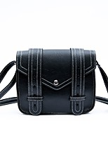 cheap -Women's Bags PU Leather Shoulder Bag Zipper for Casual All Seasons White Black Red Brown