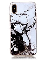 voordelige -hoesje Voor Apple iPhone X iPhone 8 Ultradun Achterkant Marmer Zacht TPU voor iPhone X iPhone 8 Plus iPhone 8 iPhone 7 Plus iPhone 7