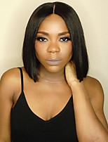 cheap -Remy Human Hair Wig Brazilian Hair Straight Bob Haircut 130% Density With Baby Hair With Bleached Knots Unprocessed African American Wig