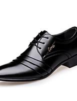 Недорогие -Муж. обувь Дерматин Весна / Осень Удобная обувь / Формальная обувь Туфли на шнуровке Черный / Официальная обувь