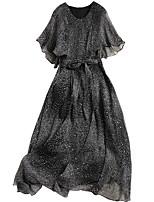 Недорогие -Жен. Уличный стиль С летящей юбкой Платье - Геометрический принт Средней длины