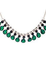 abordables -Mujer Gota Collares con colgantes  -  Elegant Dulce Verde claro Verde Oscuro 46cm Gargantillas Para Boda Fiesta de Noche