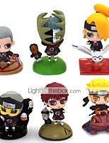 baratos -Figuras de Ação Anime Inspirado por Naruto Naruto Uzumaki PVC 5.5 cm CM modelo Brinquedos Boneca de Brinquedo