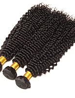 cheap -Brazilian Hair Curly Human Hair Weaves 50g x 3 Hot Sale Extention Human Hair Extensions All Christmas Gifts Christmas Wedding Party