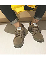 Недорогие -Муж. обувь Свиная кожа Осень / Зима Удобная обувь Кеды Черный / Серый / Хаки