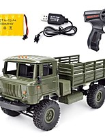 cheap -RC Car WPL B-24 GAZ-66 4 Channel 2.4G On-Road Truck 1:16 Brushless Electric 10km/h KM/H